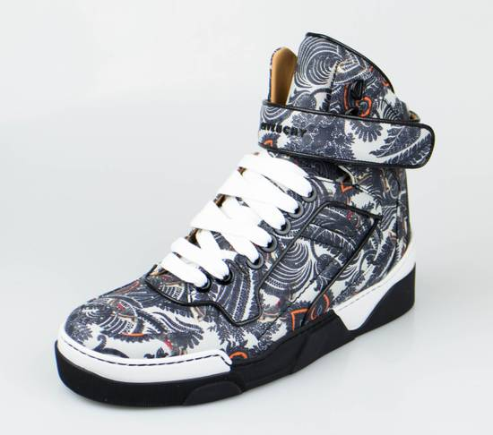 Givenchy Gray Leather Hi-Top Fashion Sneakers Size US 7 / EU 40 - 1