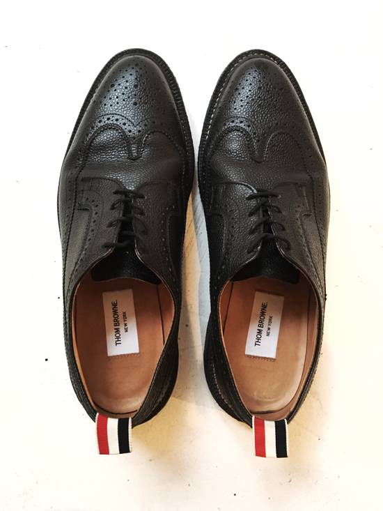 Thom Browne THOM BROWNE CLASSIC BROGUES WITH GUM SOLE IN BLACK PEBBLE GRAIN SIZE US11 Size US 11 / EU 44 - 2