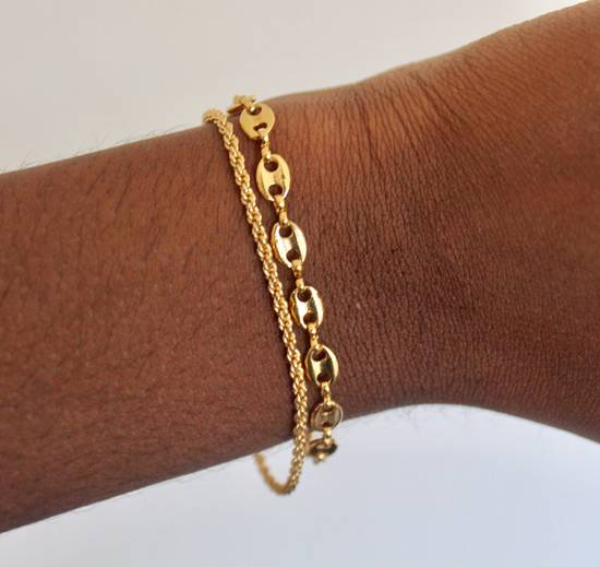 Givenchy Gold Plated Gucci & Rope Link Bracelets Size ONE SIZE