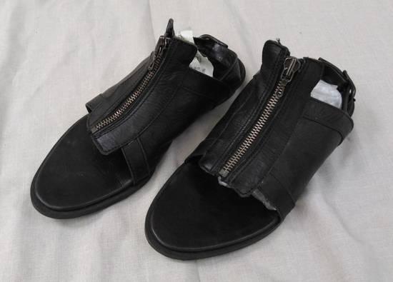 Julius Black Leather Zip Sandals s/s09 Size US 9.5 / EU 42-43