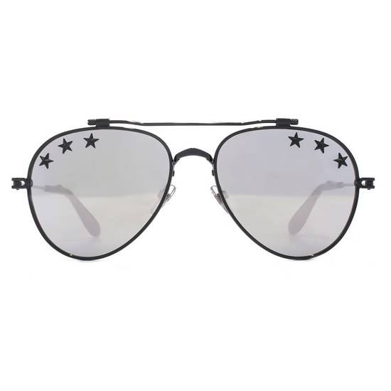 Givenchy NEW Givenchy GV7057/S 7057 Star Aviator Silver Mirrored Sunglasses Size ONE SIZE