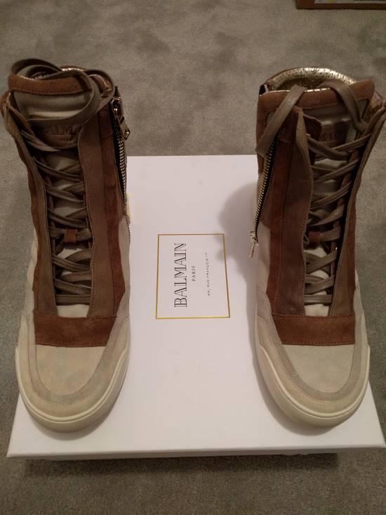 Balmain NEW Balmain Leather and Suede Hi-Top Sneakers Size US 9 / EU 42 - 6