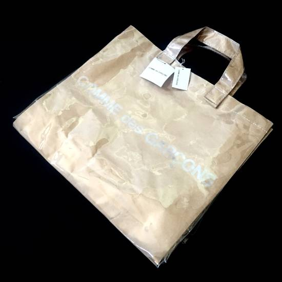 Comme des Garcons Brown Paper & Plastic Logo Tote Bag NWT Size ONE SIZE - 1