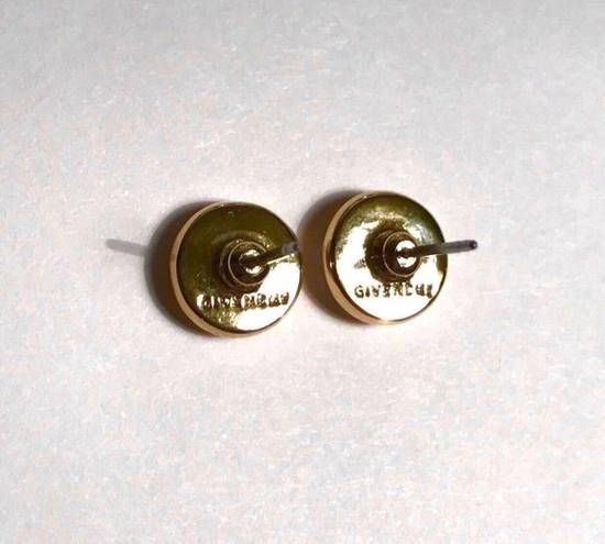 Givenchy Givenchy Gold Tone Round Earrings Crystal Diamonds Size ONE SIZE - 1