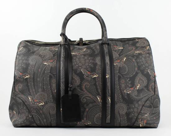 Givenchy Men's Gray/Black Leather Paisley Weekender Bag Size ONE SIZE - 1