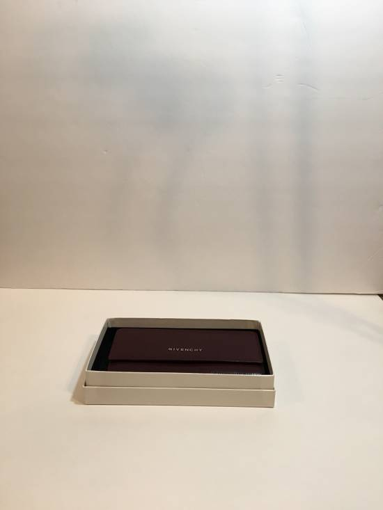 Givenchy Burgundy Long Wallet Size ONE SIZE