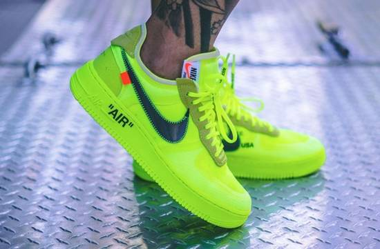 nike air force 1 neon green off white
