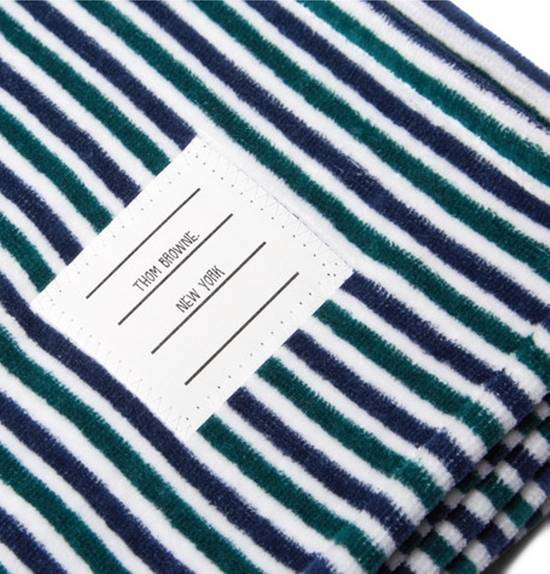 Thom Browne Striped Cotton Towel Size ONE SIZE - 2