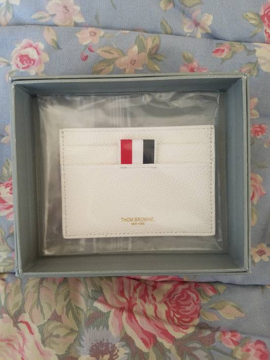 Thom Browne Tennis-Racket Leather Card Case Size ONE SIZE - 5