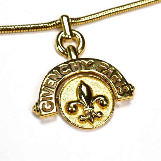 "Givenchy 31"" Gold Fleur de Lis Pendant Chain Necklace NWT Size ONE SIZE - 1"