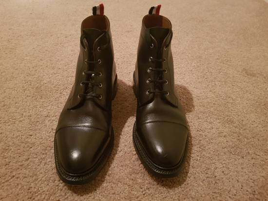 Thom Browne Black Cropped Derby Boot Size US 10.5 / EU 43-44 - 2