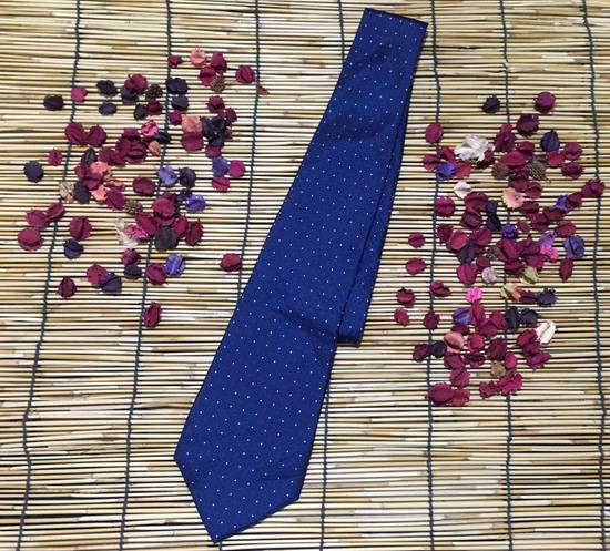 Balmain Balmain Necktie, Blue Color Necktie, Dot Pattern Size ONE SIZE