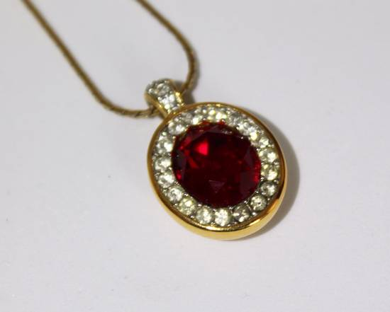 Givenchy Gold Plated Red Crystal Necklace Size ONE SIZE - 2