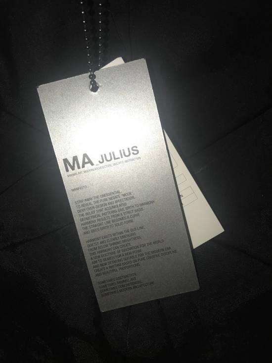 Julius MA_ JULIUS ULTRA RARE BLACK COATED LAMB SKIN LEATHER BASEBALL CAP HAT Size ONE SIZE - 8