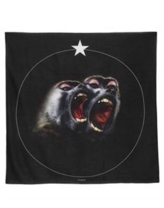 Givenchy Givenchy Singnature Foulard, Scarf Monkey Brothers in Black Size ONE SIZE