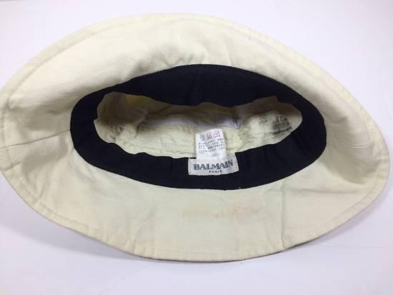 Balmain Cream White Bucket Safari Hat Likely Children's Size ONE SIZE - 5