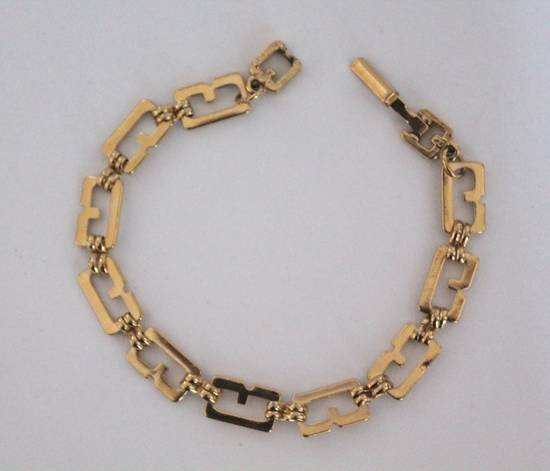 Givenchy Gold Plated G-Link Bracelet Size ONE SIZE - 1