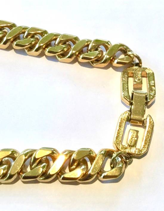 Givenchy Givenchy Cuban Link Gold Tone Chain Vintage 24 Inch Necklace G Clasp Size ONE SIZE - 3