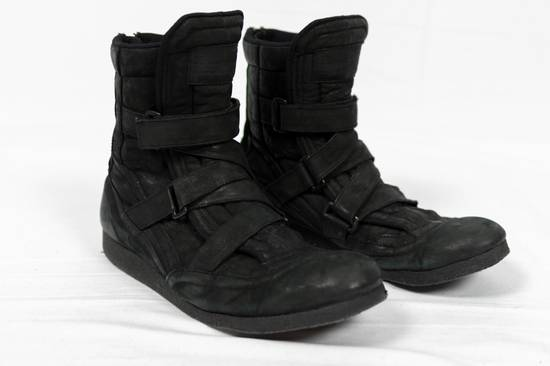 Julius AW11 Waxed Black Strapped Leather Boots Size US 9 / EU 42 - 2