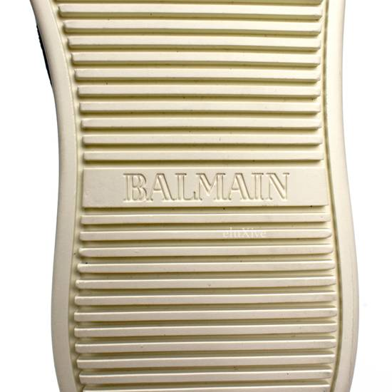 Balmain Black Woven Suede Sneakers DS Size US 8 / EU 41 - 10