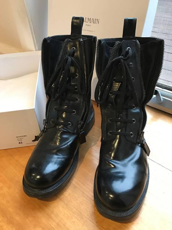 Balmain Giuseppe Zanotti double zippers leather boots Size US 10 / EU 43