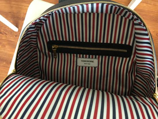 Thom Browne THOM BROWNE DIAGONAL STRIPE LEATHER BACKPACK Size ONE SIZE - 4