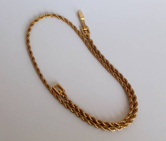 Givenchy Gold Plated Rope-Link Necklace Size ONE SIZE