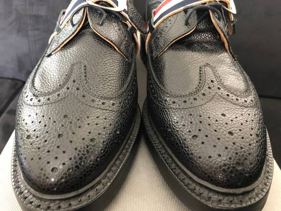 Thom Browne Thom Browne black grained-leather Longwing brogues size 9US Size US 9 / EU 42 - 5