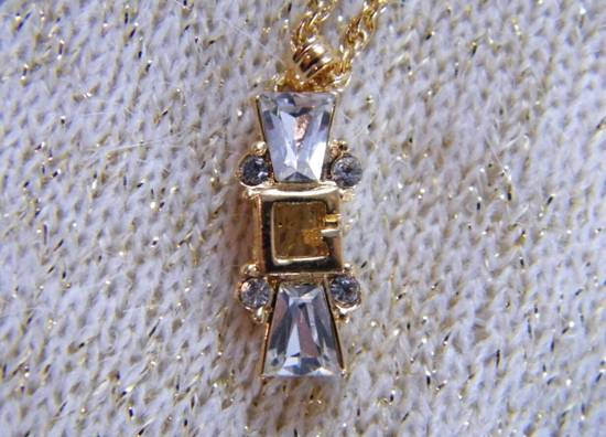 Givenchy Givenchy G Pendant Diamond Necklace Crystal Charm Chain Vintage Size ONE SIZE - 2