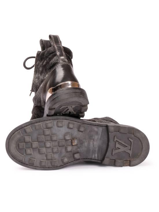 c97af651918 ... Louis Vuitton Kim Jones Pony Hair Steel Toe Combat Boot Size US 11   EU  44