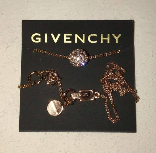 Givenchy Givenchy Crystal Pendant Rose Gold Tone Necklace Diamond Chain Size ONE SIZE - 5