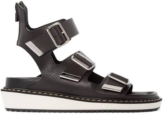 Givenchy Black Leather Multi-Strap Sandals Size US 12 / EU 45 - 4