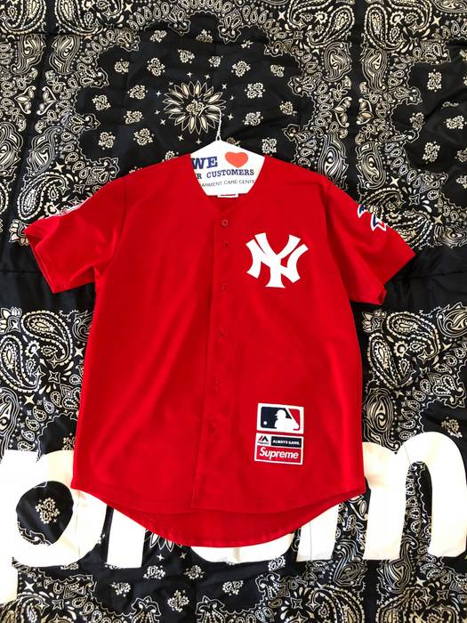 Supreme Supreme Yankees Baseball Jersey Red Size m - Jerseys for ... d40aeeef6dc