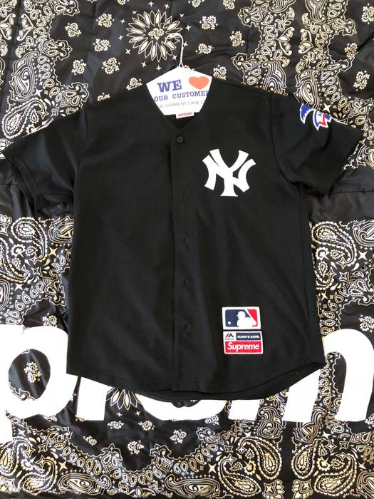 Supreme Supreme Yankees Baseball Jersey Black Size m - Jerseys for ... 4e3f2f47175