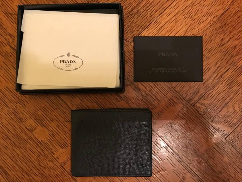 Prada Prada Saffiano Leather Mini Billfold Wallet Size One Size
