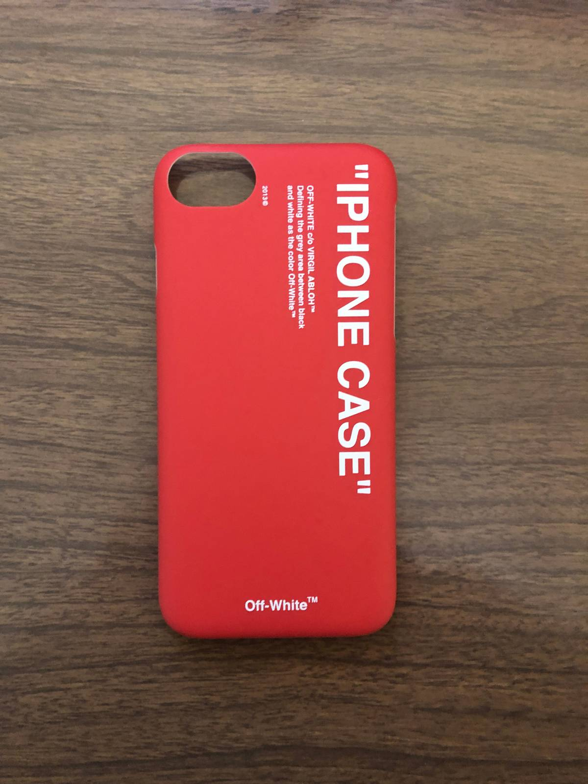 huge discount 71a3a 2d93d Off White ⭐️⭐️ New Off White I Phone 8/7 Case Red Size One Size $72