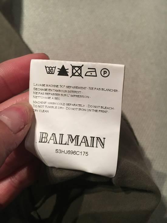 Balmain Balmain Khaki T-Shirt with Kangaroo Pockets Size US L / EU 52-54 / 3 - 6