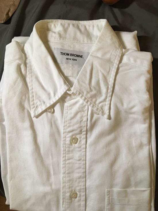 Thom Browne White Oxford with Painted collar detail - 2 Size US M / EU 48-50 / 2 - 1