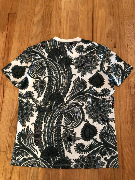 Givenchy Givenchy T Shirt White Green Paisley Fighter Jet Print Size US L / EU 52-54 / 3 - 4