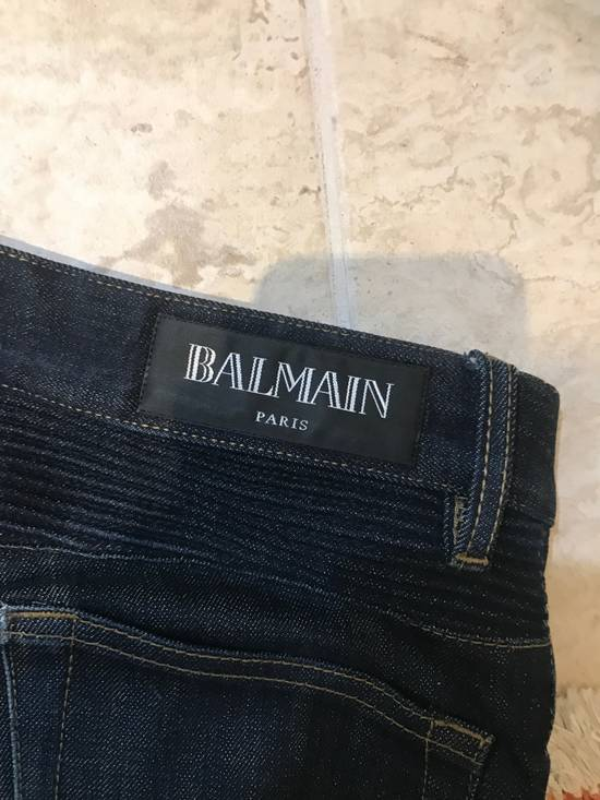 Balmain Raw Biker Denim Size US 32 / EU 48 - 2