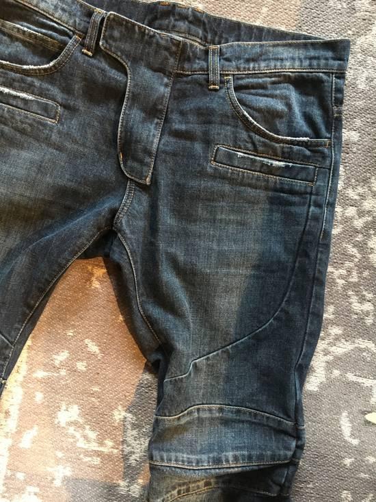 Balmain Balmain blue biker denim Size US 32 / EU 48 - 4