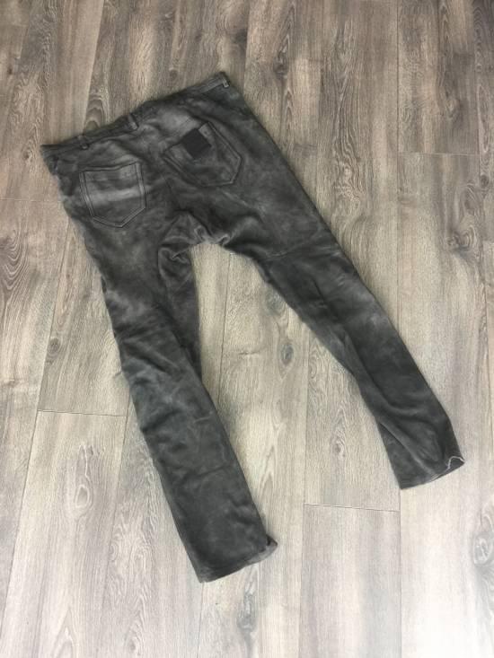 Julius black leather dropped pants Size US 33 - 1