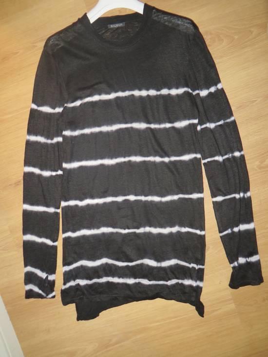 Balmain Tie-dye linen t-shirt Size US M / EU 48-50 / 2 - 8