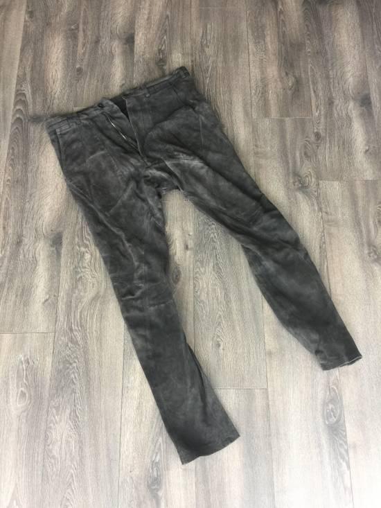 Julius black leather dropped pants Size US 33