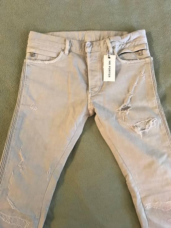 Balmain Distressed stretch-denim biker jeans Size US 31