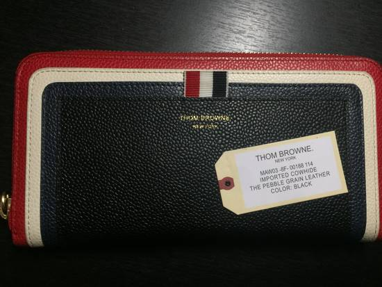 Thom Browne Tricolor Long Zip Around Wallet Size ONE SIZE - 1