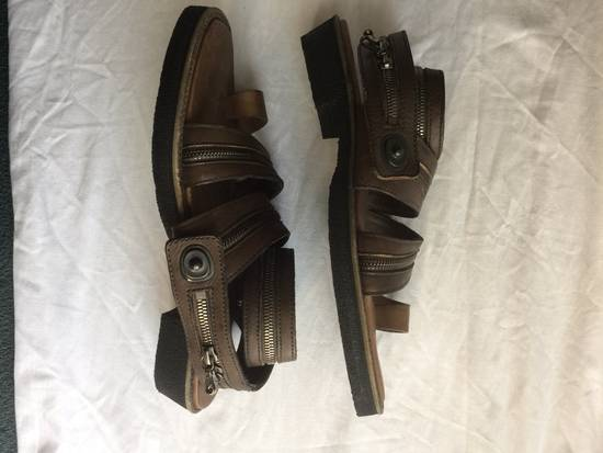 Julius Julius Brown Zipper Sandals Size US 9 / EU 42
