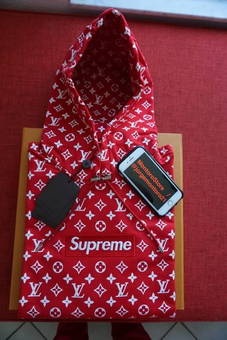 Supreme In Hand Supreme X Louis Vuitton Box Logo Hoodie Xl