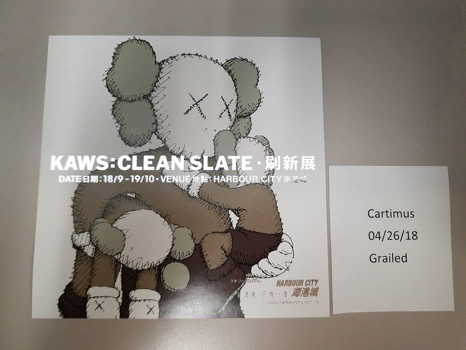kaws kaws clean slate harbour city hong kong exhibition event flyer