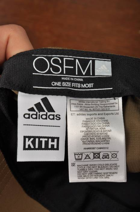 1ac5608d3e3 Kith Nyc NWT Men s KITH X ADIDAS Ronnie Fieg Baseball Cap Polyester  Weatherproof Olive Size ONE